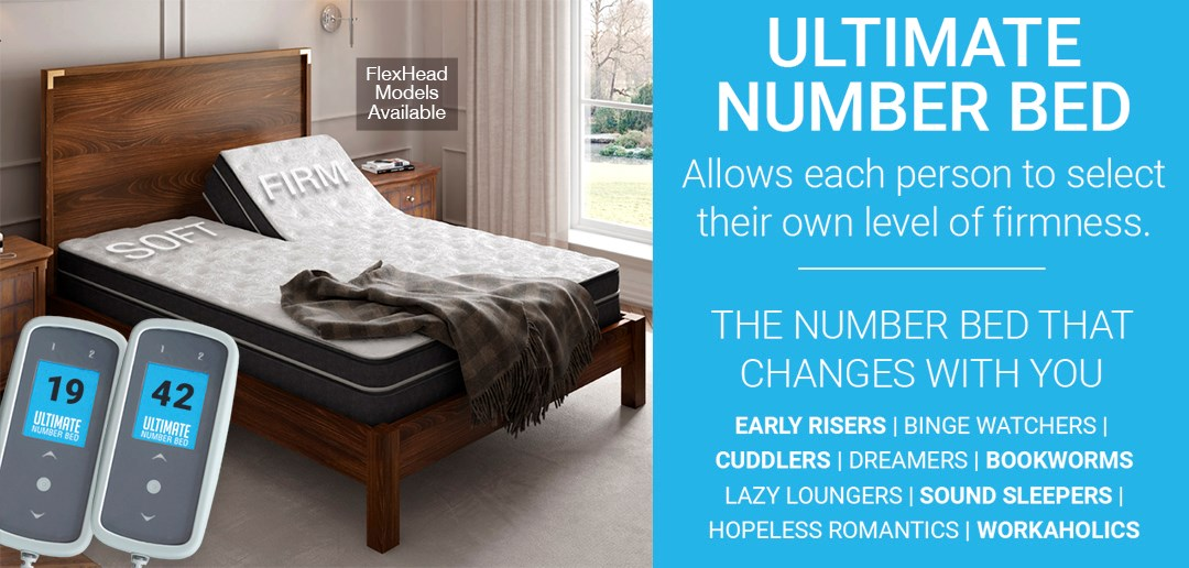 Ultimate Number Bed | Allows each person to select their own firmness.