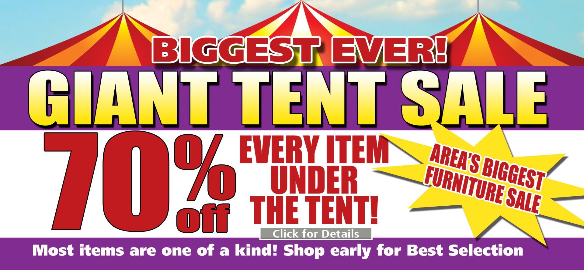 Giant tent sale