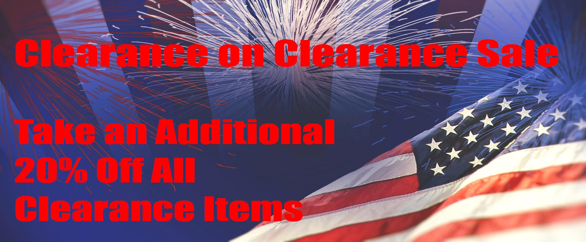 Clearance on Clearance