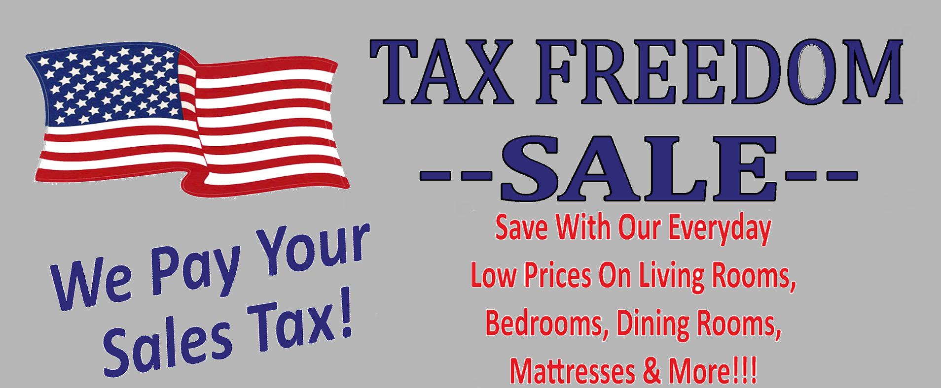 Tax Freedom Sale