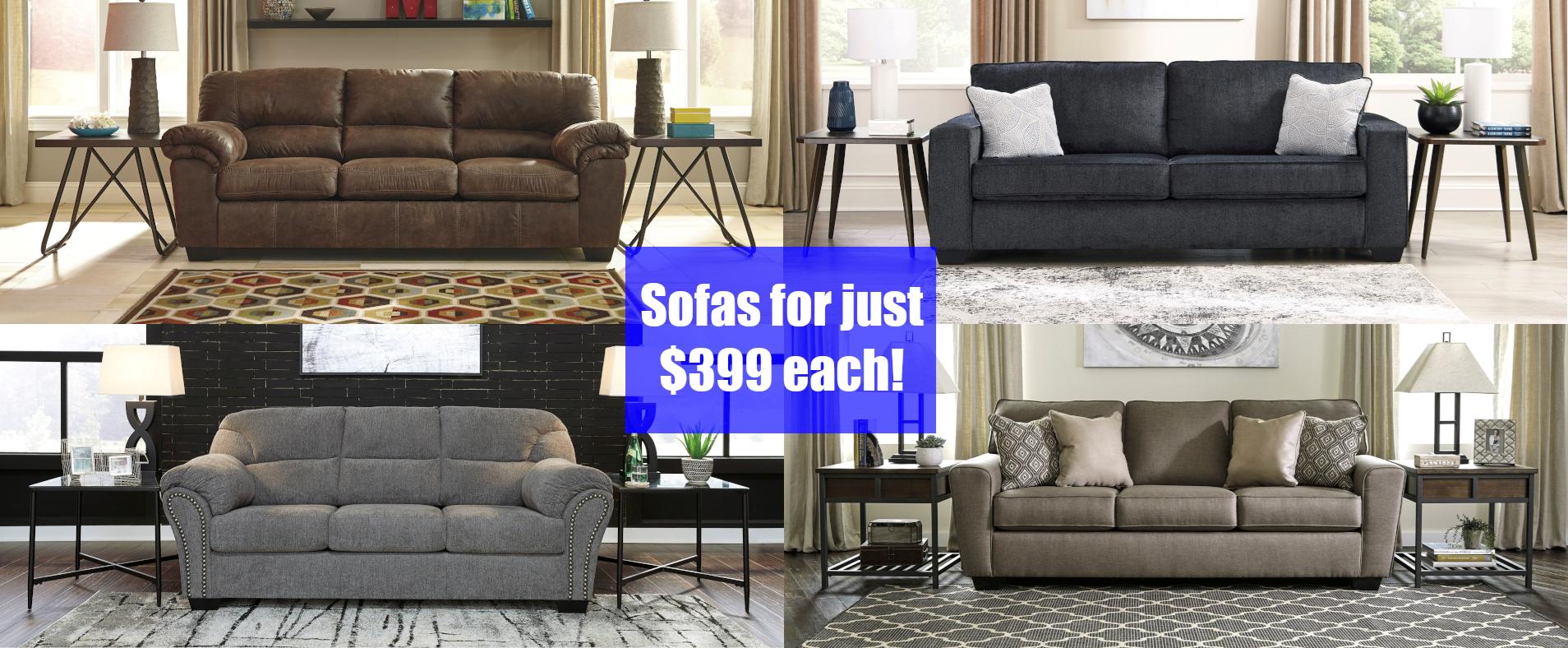 Sofas for $399