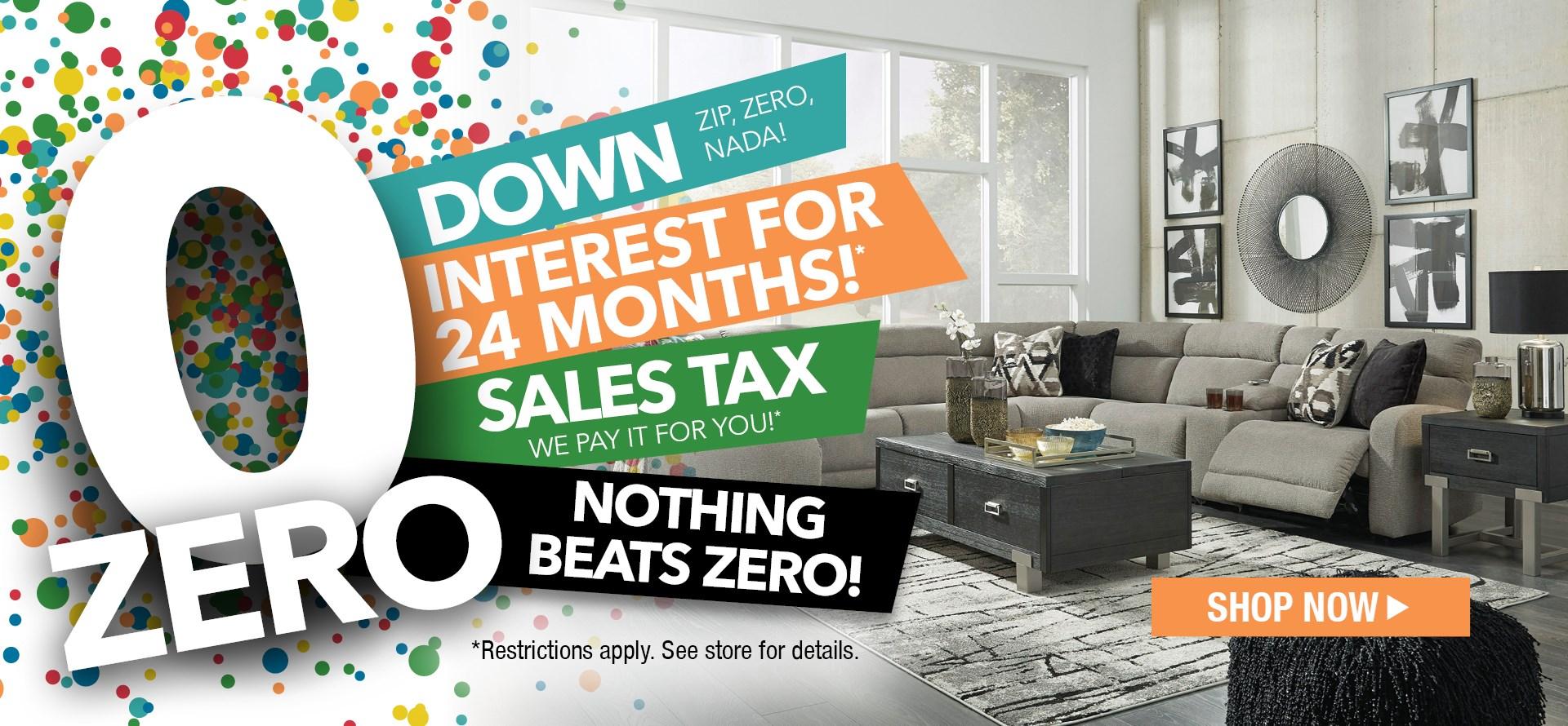 0 Down   0 Interest   0 Tax