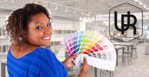 Designer Holding Color Swatches