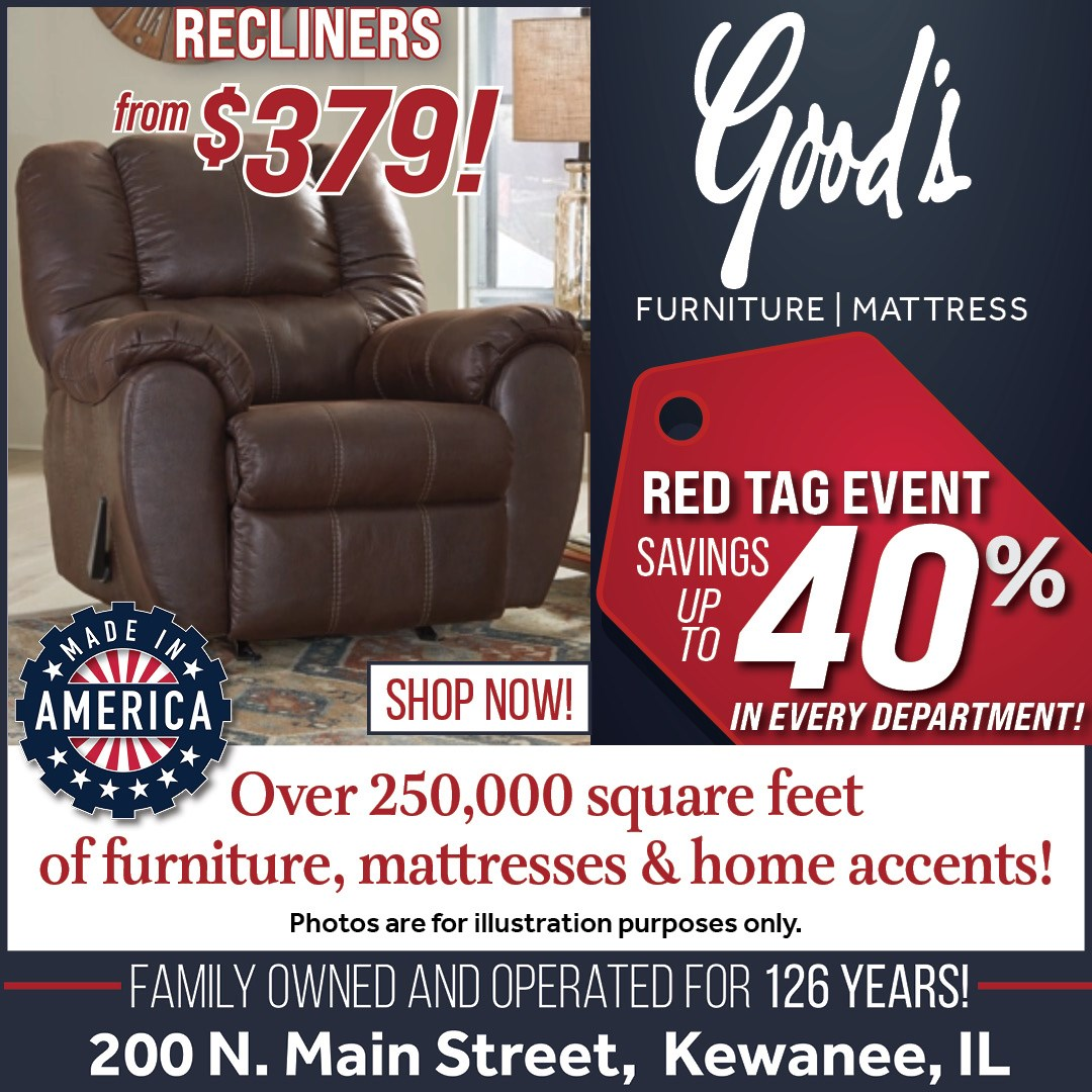 Recliners up to 40% off