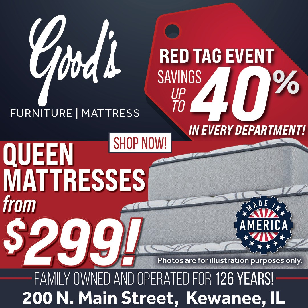 Mattresses up to 40% off