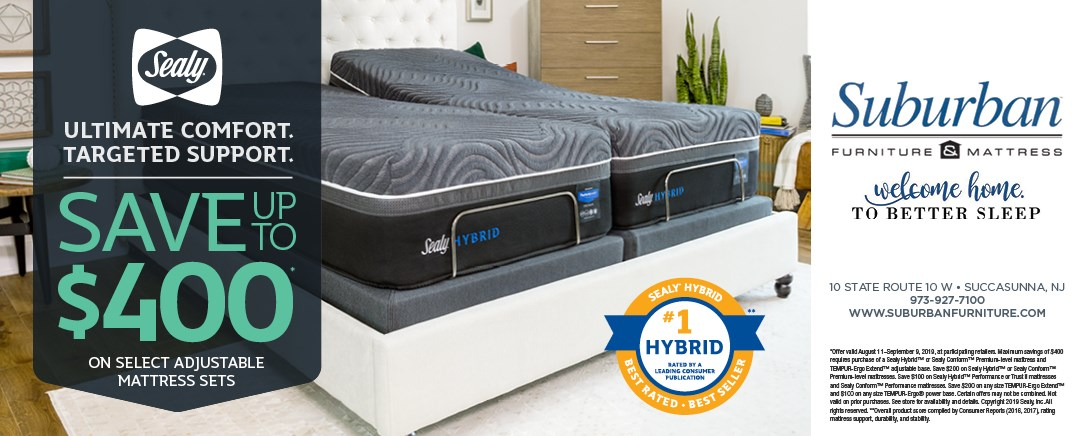 Save up to $400 on select Sealy adjustable base mattress sets