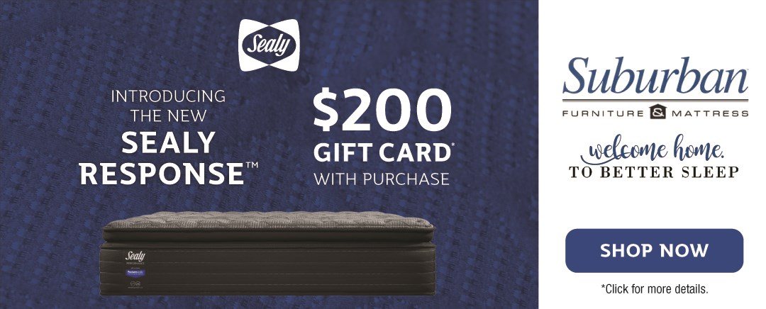 $200 gift card with the purchase of the new sealy response