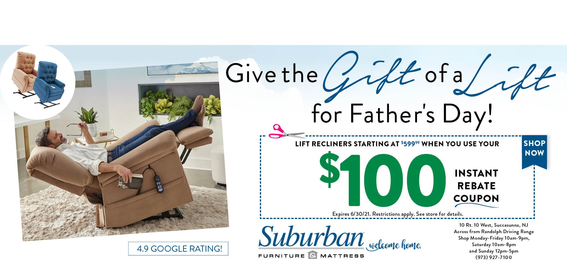 fathers day lift chair promo