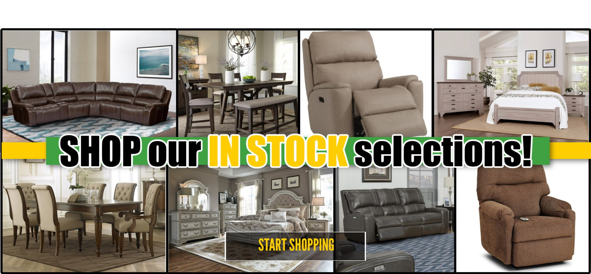 in stock furniture banner