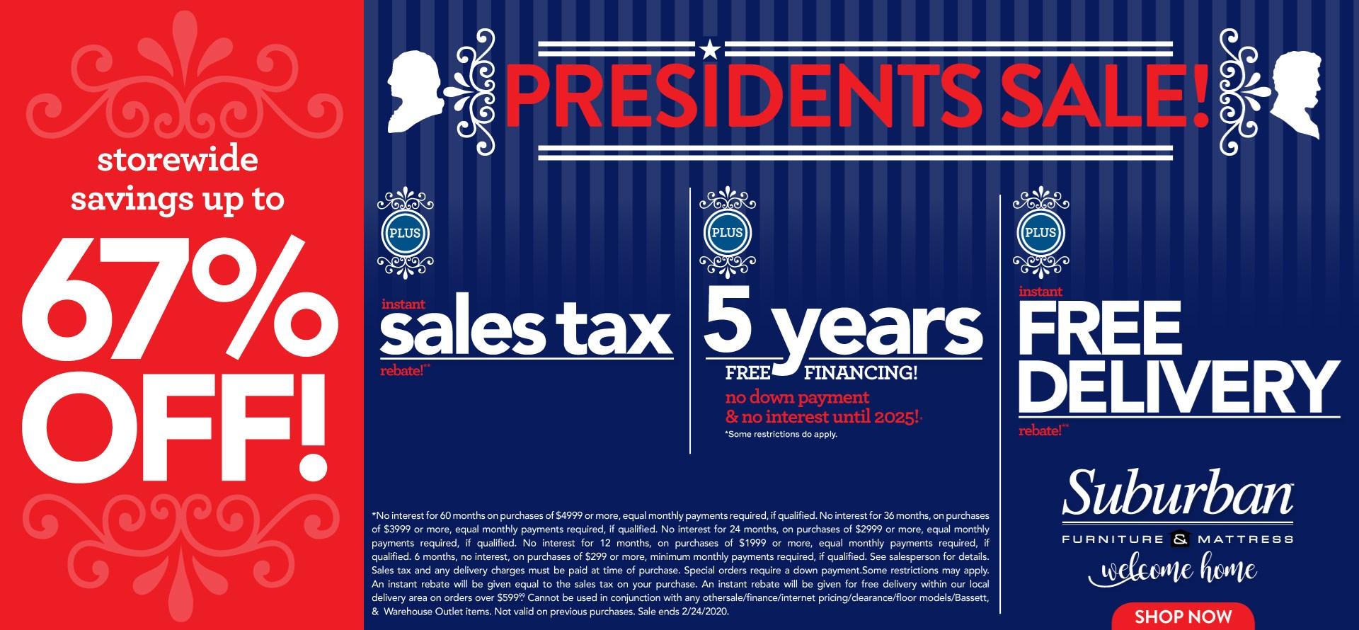 Presidents Sale