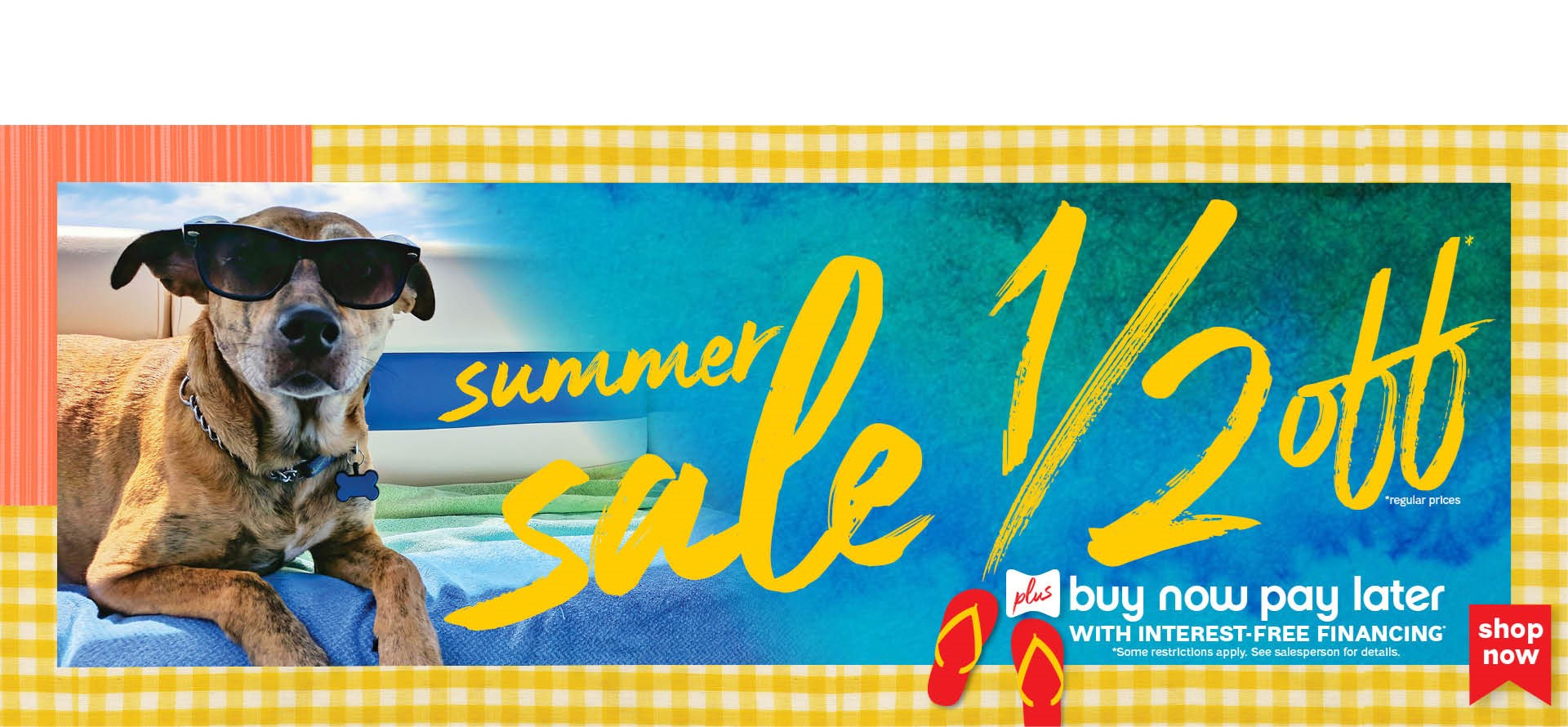 half off summer sale