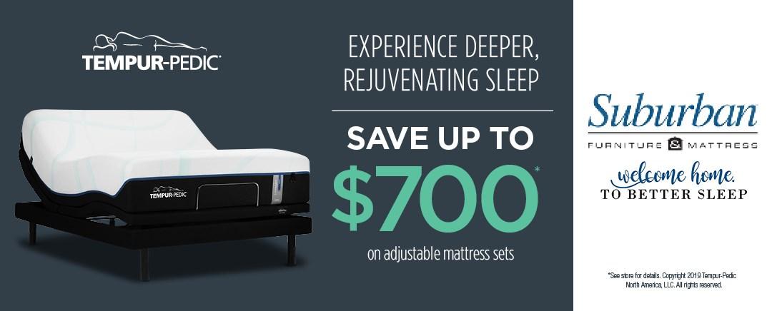 Save up to $700 on Tempur-Pedic adjustable mattress sets