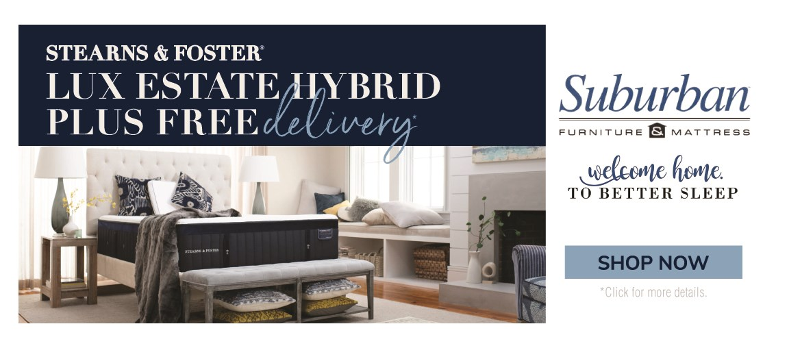 Shop Stearns and Foster Lux estate hybrid and get free delivery