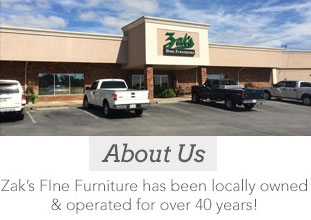 About Us - Zak's Fine Furniture has been locally owned and operated for over 40 years!