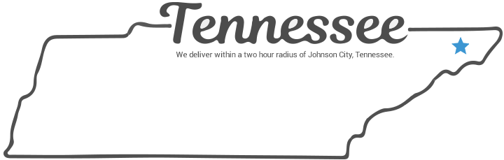 Tennessee outline, we deliver within two hours of johnson city