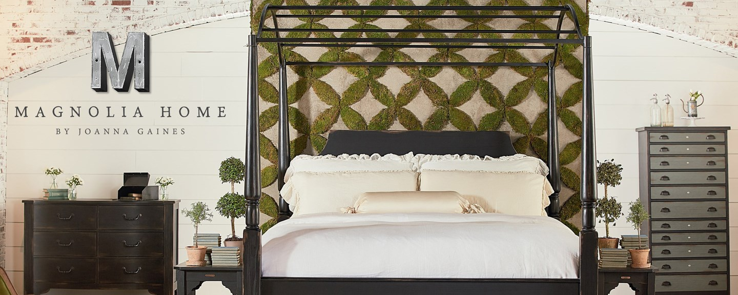 Magnolia Home Carriage Canopy Bed