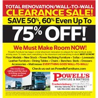 Wall to Wall Renovation Sale