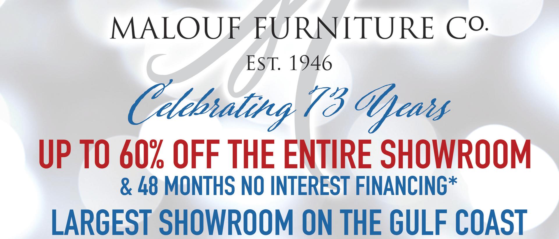 Malouf's Anniversary Sale
