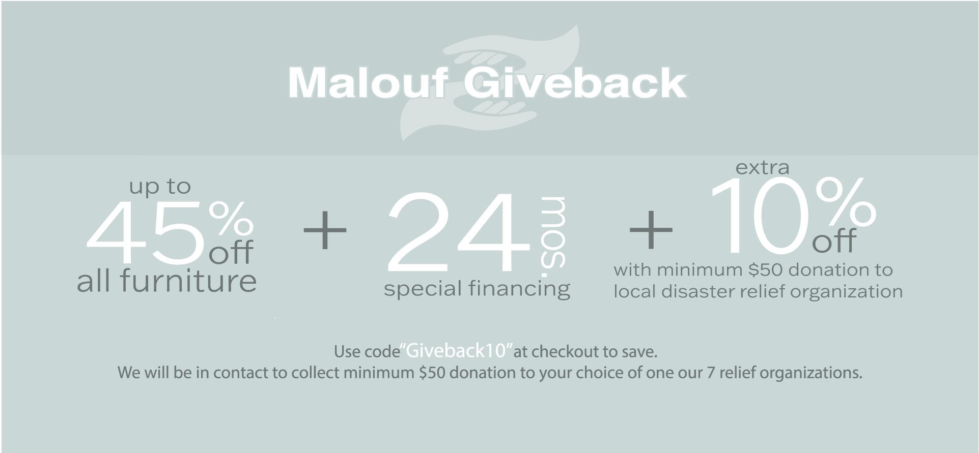 Malouf Giveback