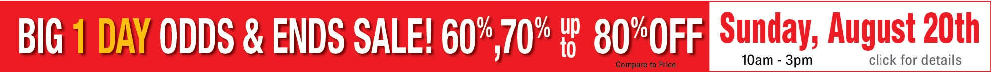 Odds & Ends Sale