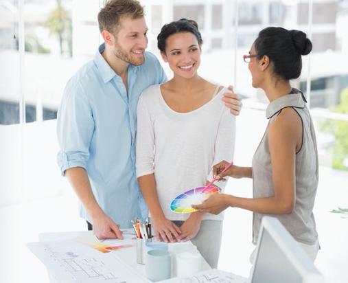 Couple Receiving Design Consultation