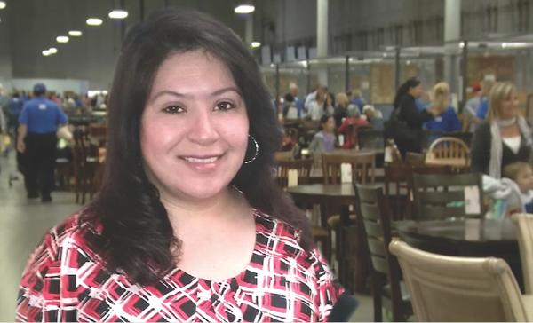 Dina Escobar in Distribution Center