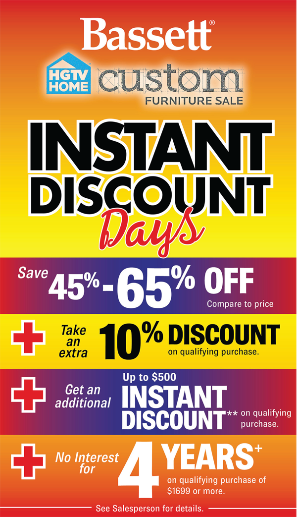 Bassett Instant Discount Days