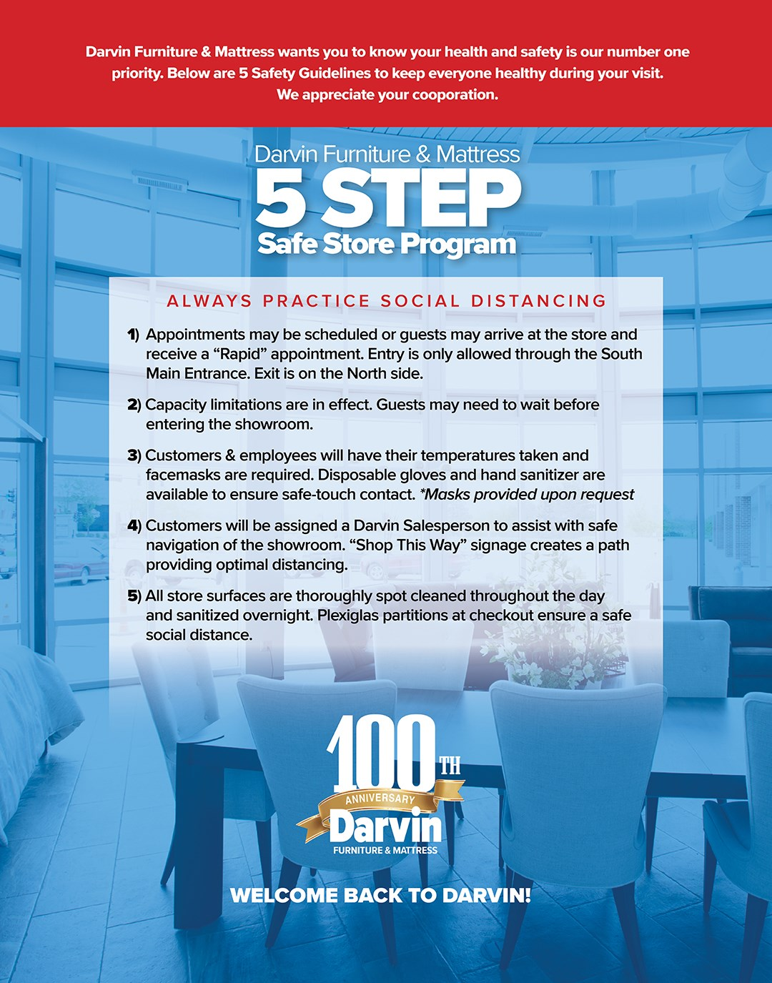 Darvin 5 Step Safe Store Program