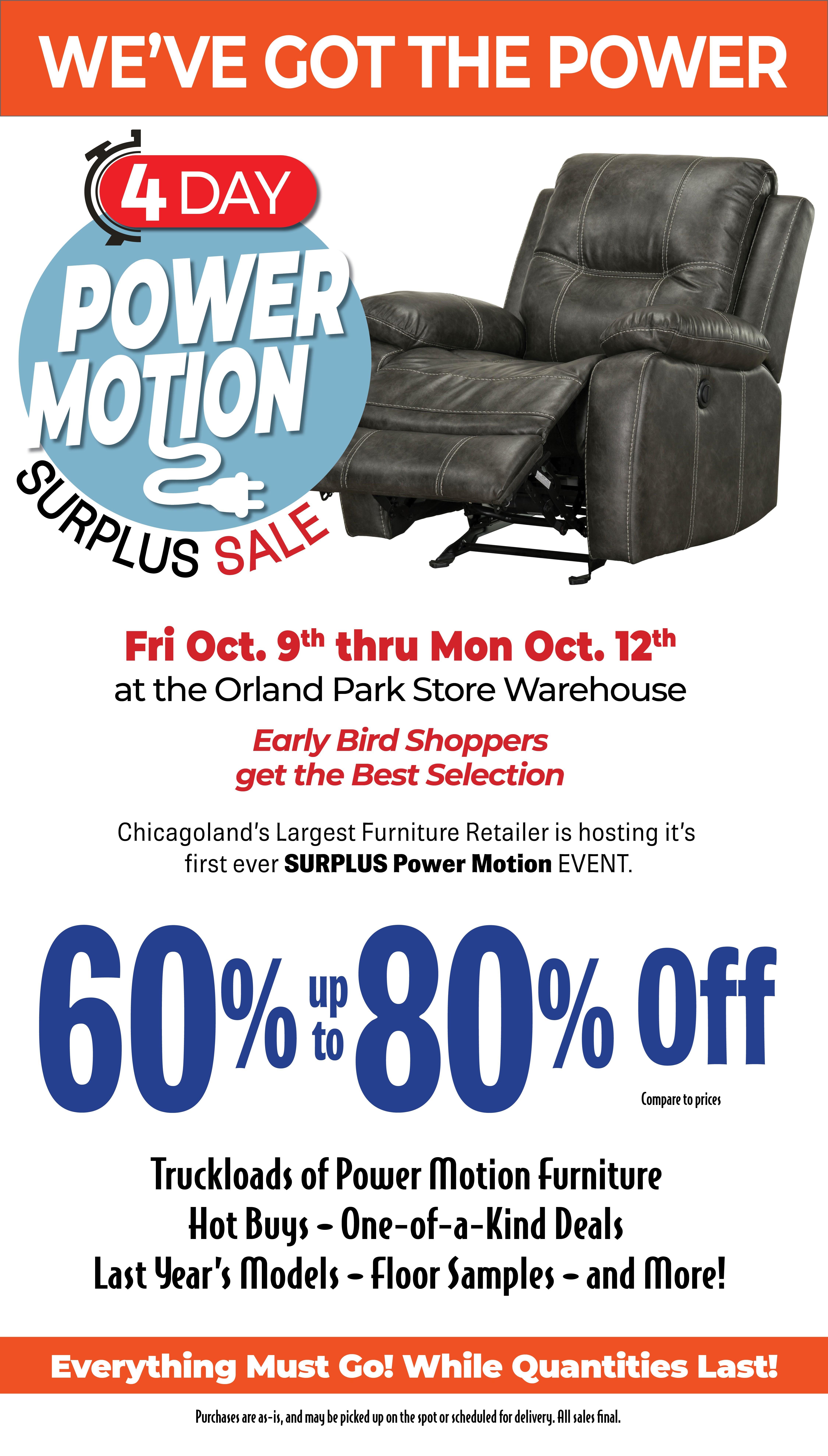Surplus Power Motion Event Darvin Furniture Orland Park Chicago Il
