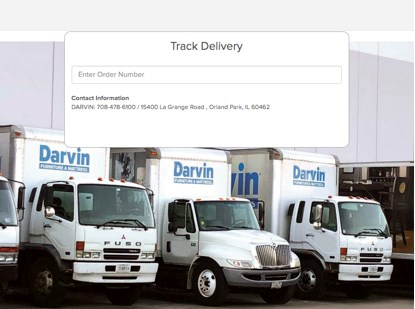 Delivery Tracking Darvin Furniture
