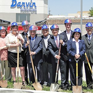 Groundbreaking Signals Start of Construction for new Enhancements to Darvin Furniture Retail Showroom