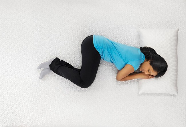 fetus sleeping position