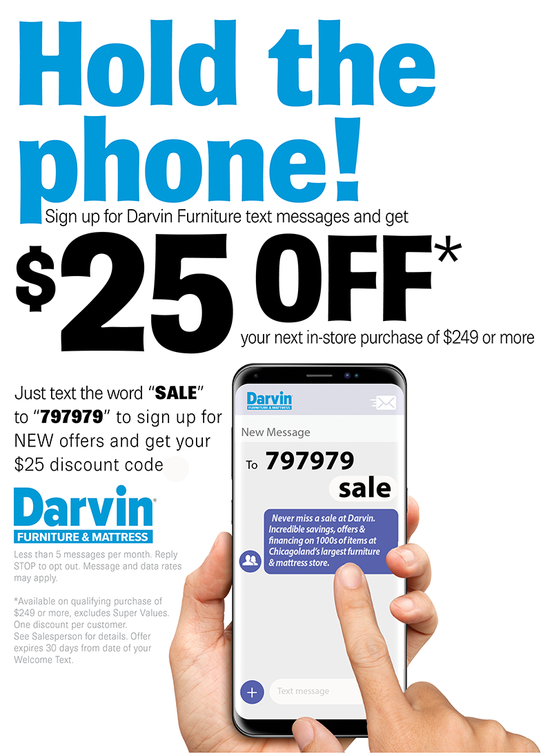 Darvin Furniture Mailing List Orland Park Chicago Il