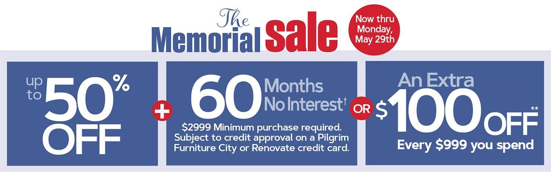 Memorial Sale Thru Monday, May 29th!