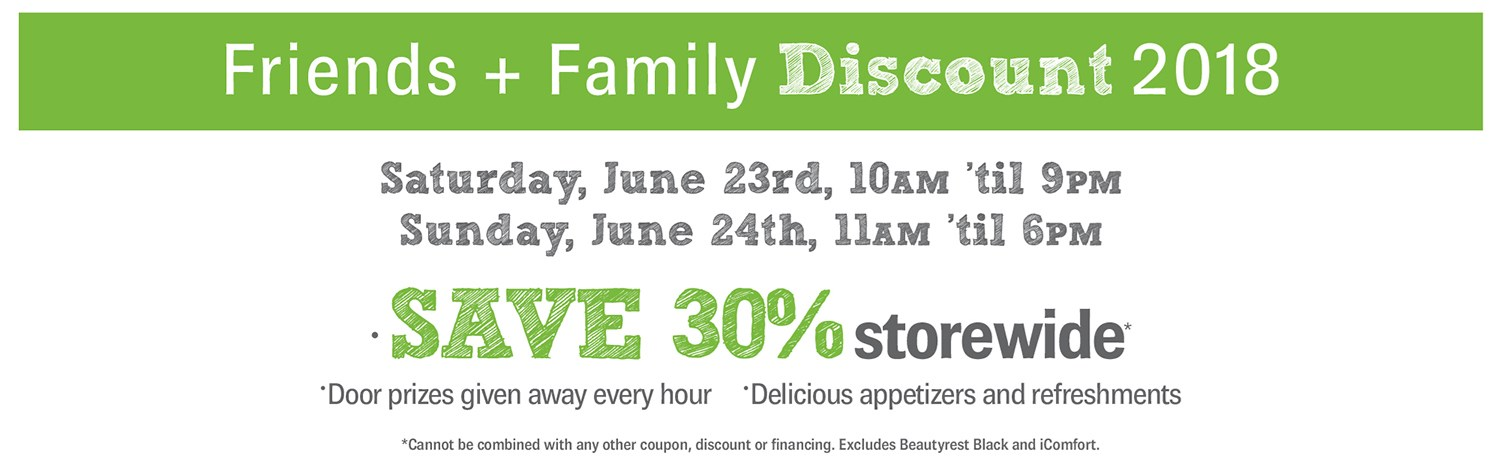 Friends and Family Sale!