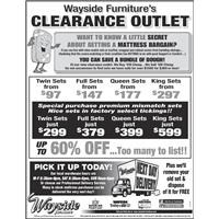 Clearance outlet mattresses