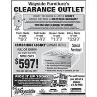 outlet mattress specials
