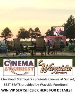 cinema at sunset