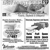 Futons, daybeds,sleepers, Grand Hotel mattress, Serta, White Dove, king mattress, queen mattress, full mattress, twin mattress