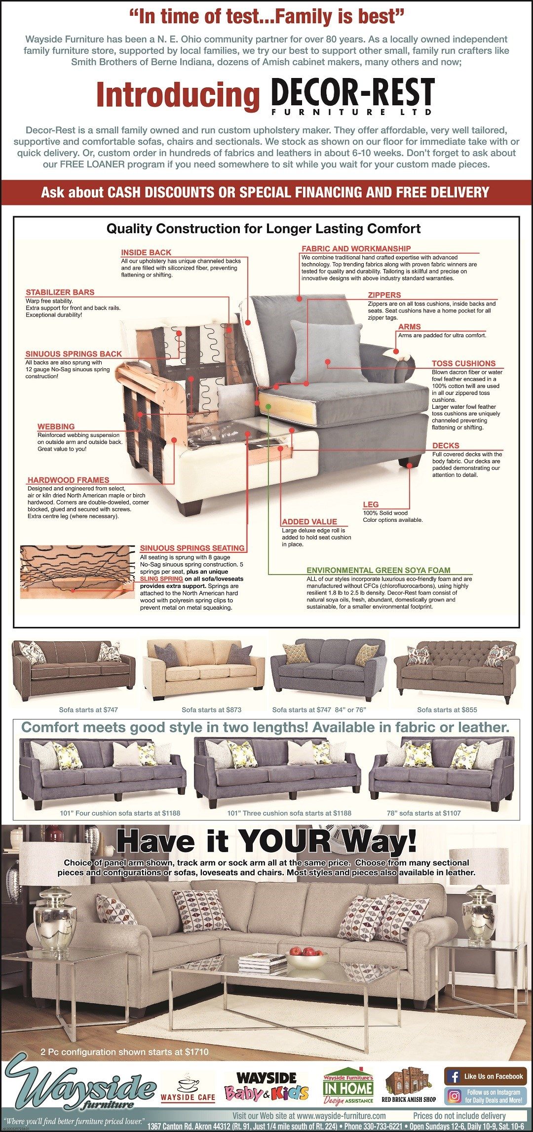 Decor-rest sofas, sofa, sectional, apartment size sofa