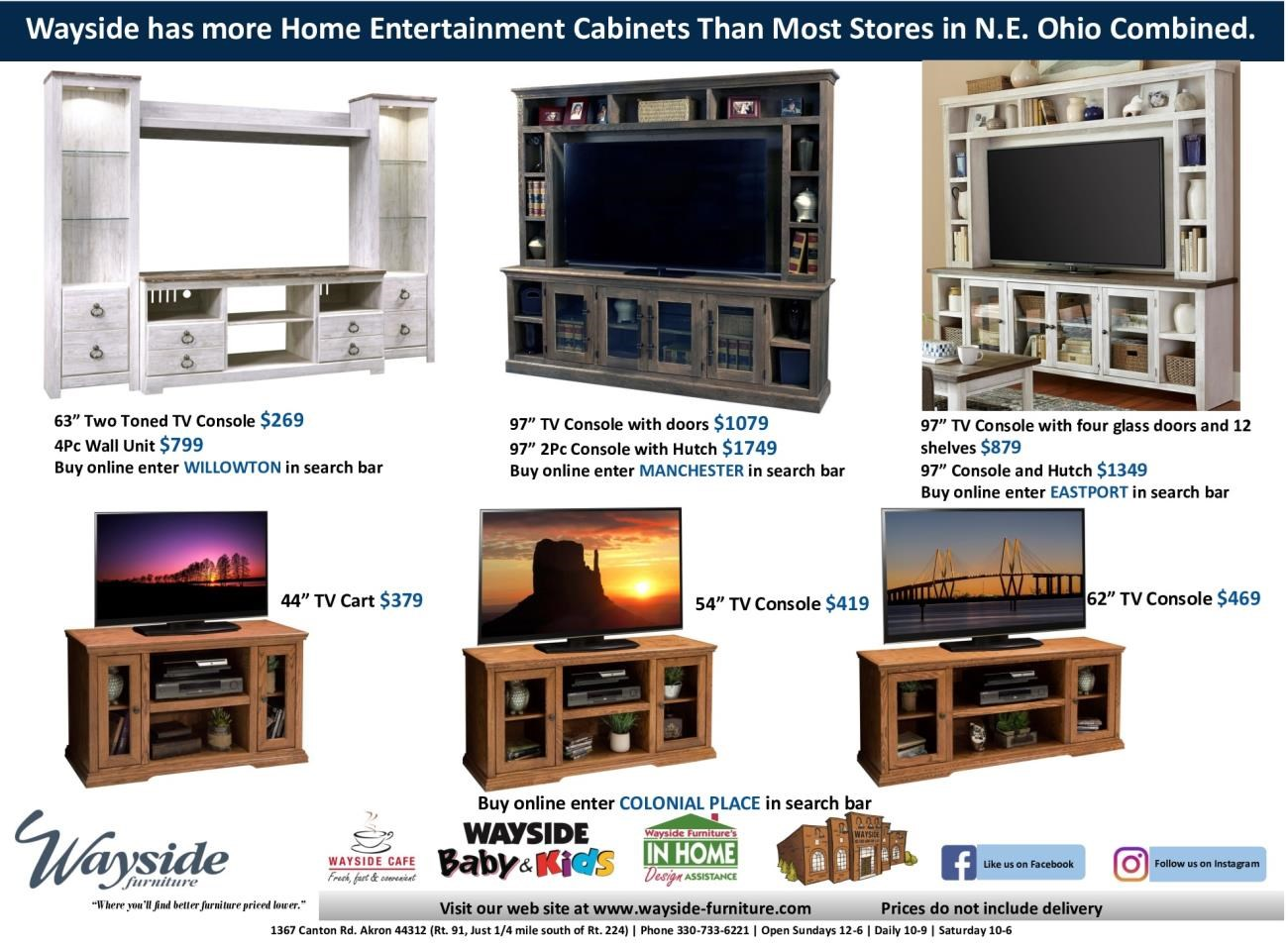 Entertainment center, Wall unit, TV console, TV cart, TV console