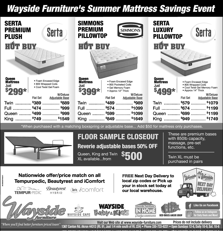 serta, simmons, mattresses, adjustable bases