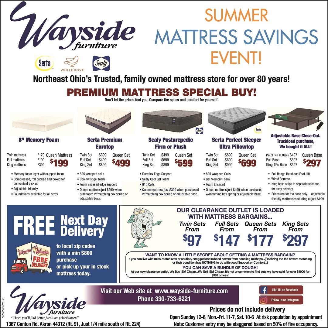 Summer Mattress Savings Event