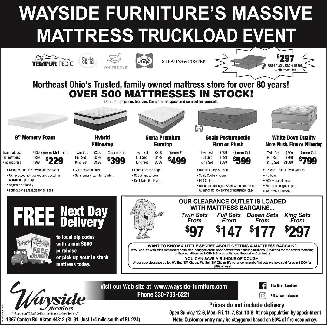 Wayside Furniture's Massive Truckload Mattress Event
