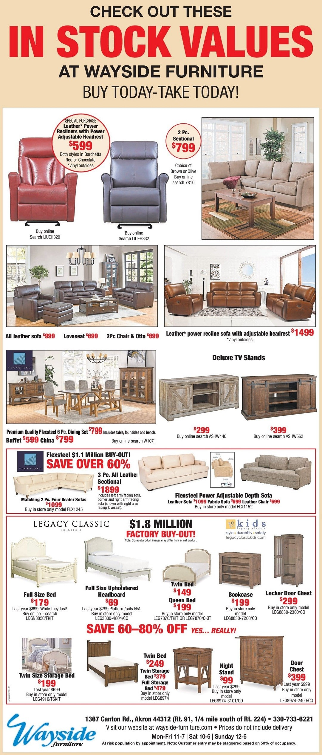 Wayside has tons of product in stock. Buy today take today