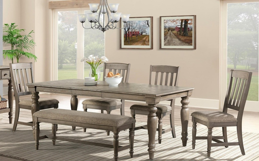 Intercon Balboa Park dining set, table, chairs, bench