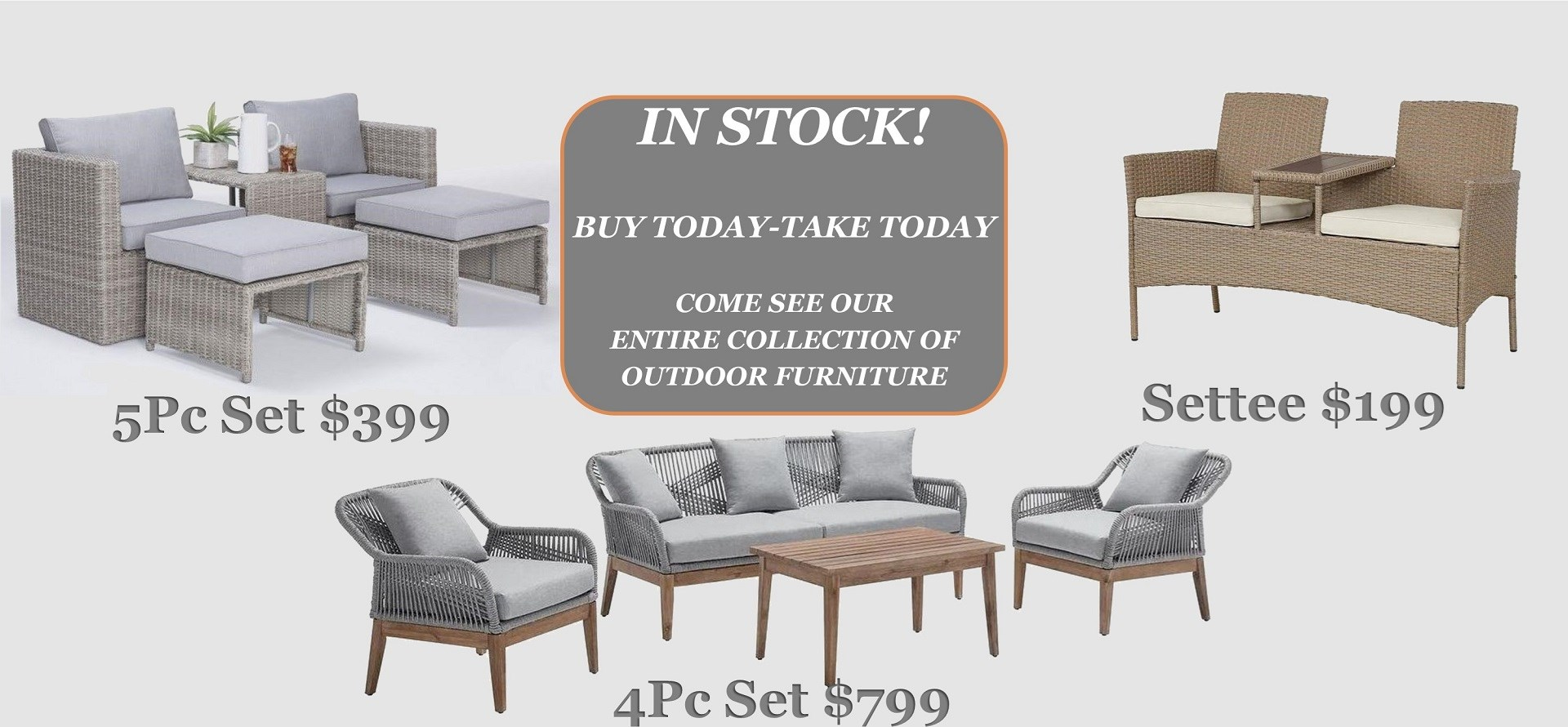 In Stock Patio Buy Today take today