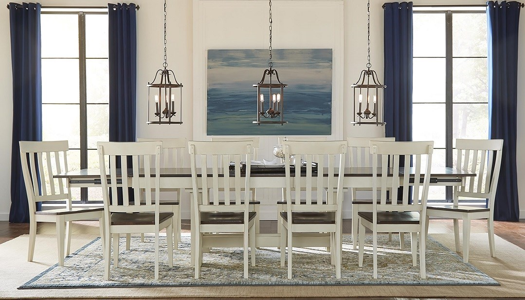 AAmerica Mariposa 11pc dining set with triple butterfly leaf