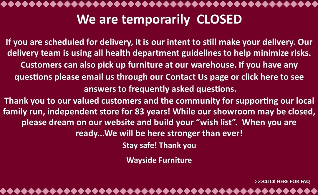 We are temporarily closed.