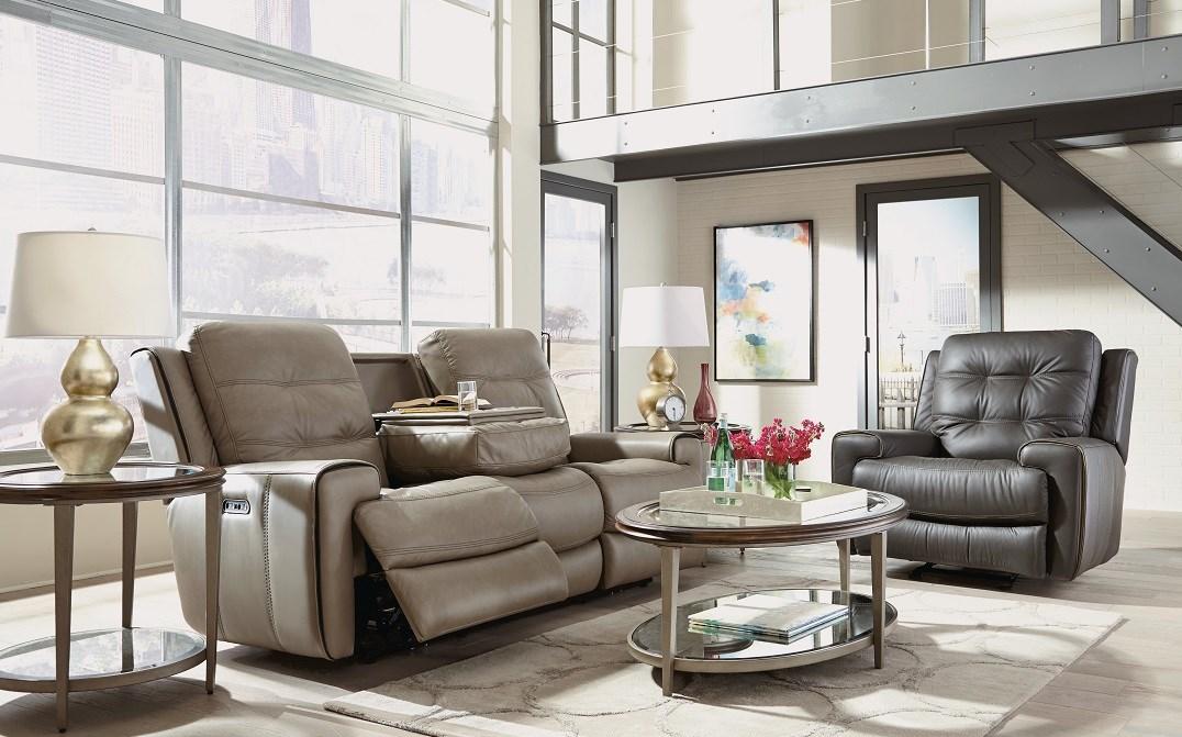 Flexsteel Latitudes-Wicklow leather recline sofa, recliner
